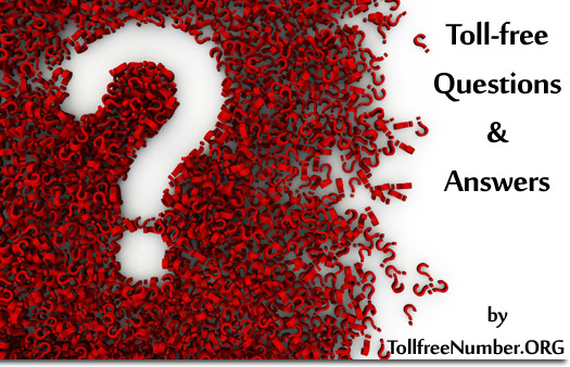 toll free numbers questions and answers FAQ