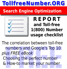 seo report copy More SEO experts realizing the benefit of on site toll free numbers
